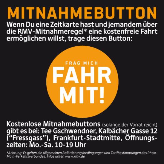 Mitnahmebutton > FRAG MICH - FAHR MIT! | Frankfurt am Main